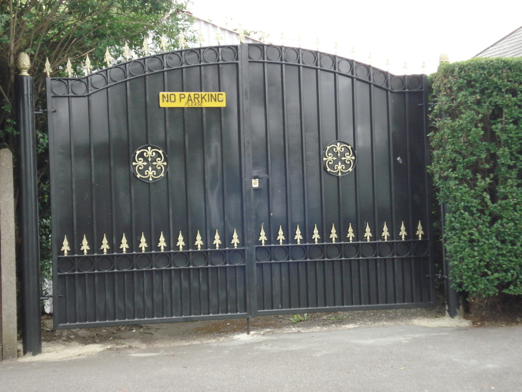 Gate design iron simple gate design wrought iron simple gate design - Metal Fences And Gates Designs Images